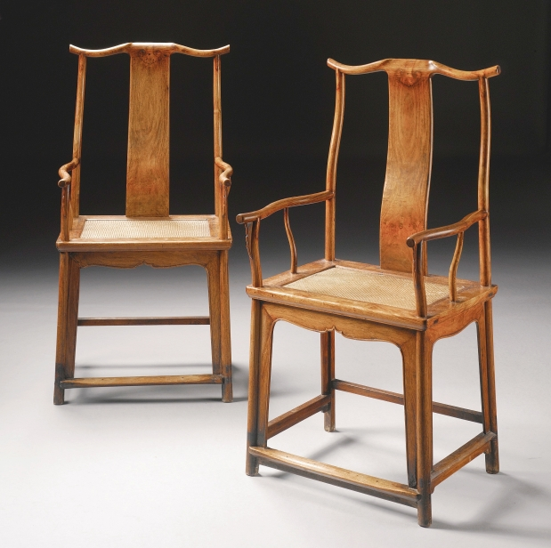 Pair of huanghuali yokeback arm chairs worth 250k found for Oriental furniture vancouver