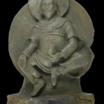 Buddhist statue made from meteorite