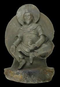 Buddhist statue made from meteorite