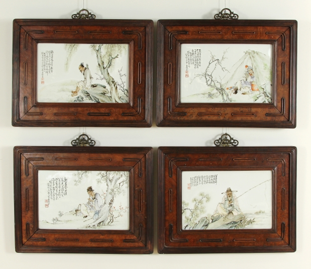 Set of four painted polychrome works sells for $851,000 to a bidder from China
