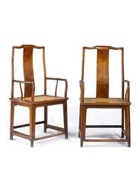 "The ""huanghuali yokeback armchairs,"" Fetch $630,000"