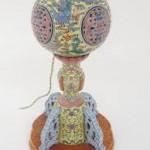 Cash is Qing: Antique wig stand made for Chinese emperor but used as a reading lamp for 50 years sells for £100,000