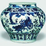 Blue-and-white porcelain from the Yuan Dynasty (1271-1368)
