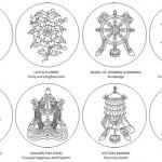 Eight Auspicious Symbols of Buddhism - Bajixiang 八吉祥