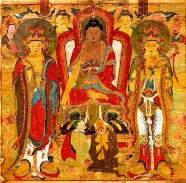 A Korean Buddhist painting returned to South Korea as a donation from a private museum in the U.S. state of Virginia (Provided by the Overseas Korean Cultural Heritage Foundation of South Korea)