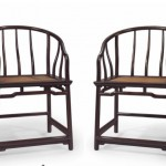 PAIR OF ZITAN HORSESHOE-BACK ARMCHAIRS, QUANYI $1,085,000 CHRISTIES NEW YORK