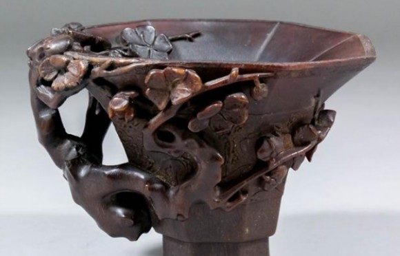 Canterbury Auction Galleries 84k For Rhinoceros Horn Cup