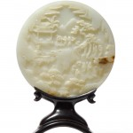 Tennants - lot 193, a Chinese jade circular table screen sold for £300,000 to an internet bidder