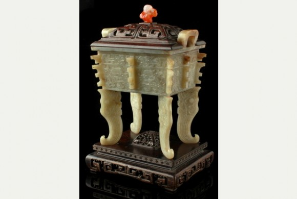 Chinese jade censer set to make £15,000 at auction
