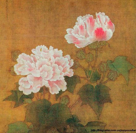 Red and White Cotton Roses. It's a representative of nature painting of the Song Dynasty. Created by Li Di in 1197, it used to be collected by the Old Summer Palace and is in the collection of Tokyo National Museum. [Photo/people.cn]