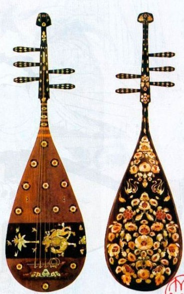 Luodian Zitan five-string pipa created in the Tang Dynasty (618-907). An ordinary pipa has four strings but this one has five. It can be played as a guitar or as a three-string instrument. As the only surviving one of its kind since the Tang Dynasty, it is a national treasure. It went to Japan during the Tang Dynasty and is now in the Japanese Imperial House. [Photo/people.cn]