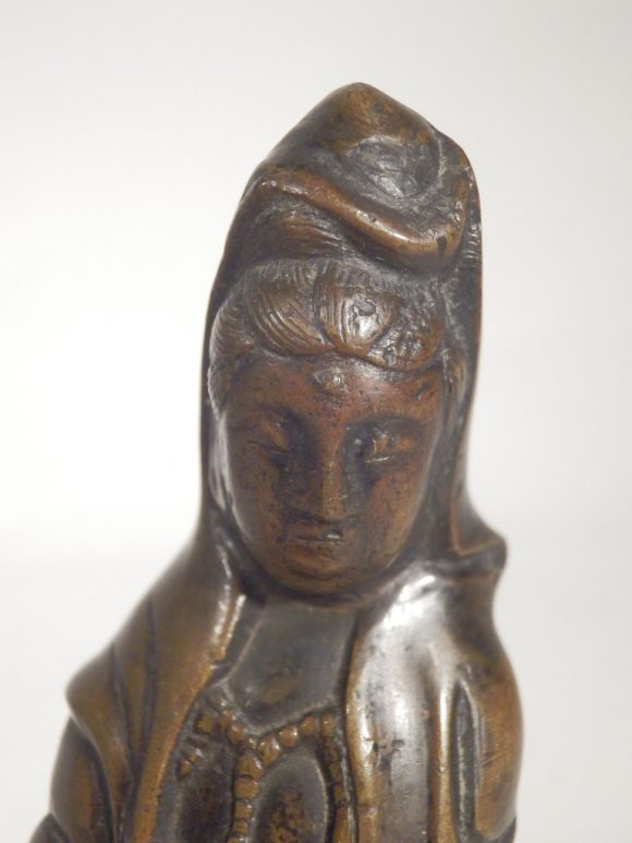 17thc Bronze Figure Of Guanyin