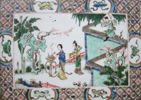 Kangxi Famille Verte Tile