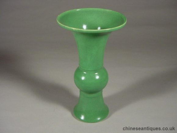 Period Green Glazed Monochrome Examples Of Chinese Porcelain