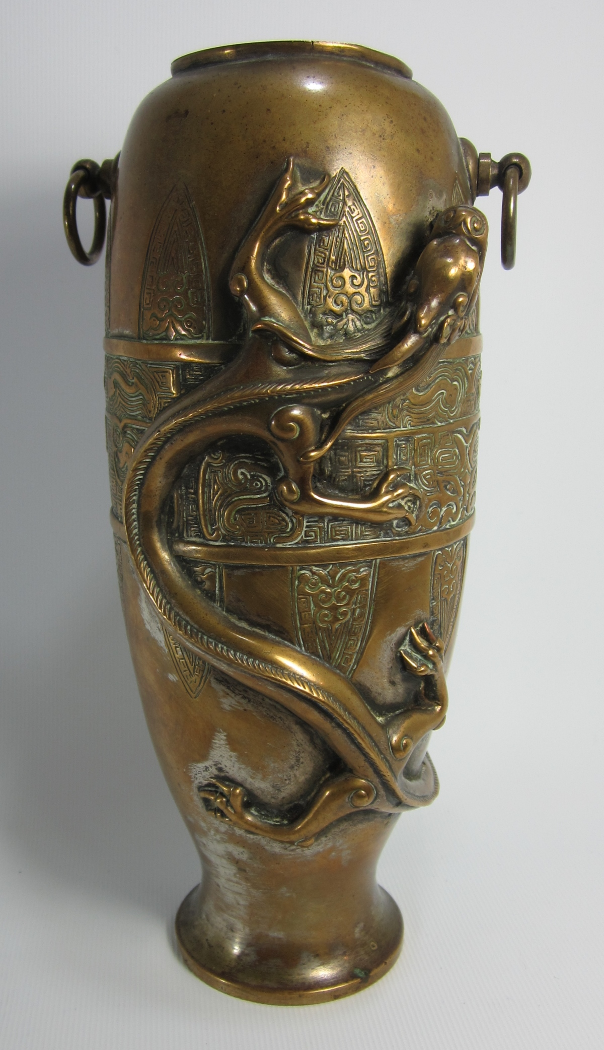 A Bronze Archaic Chilong Vase – Recent Buy