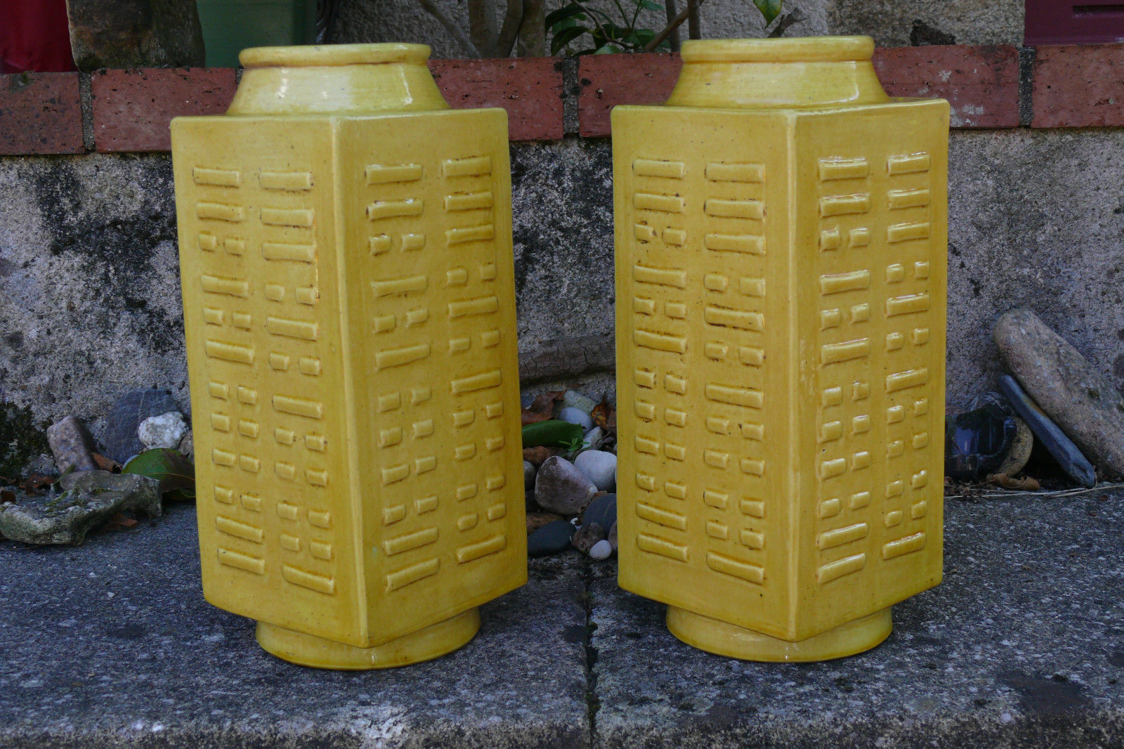 Recent Buy In Europe – A Good Pair Of Yellow Cong Vases