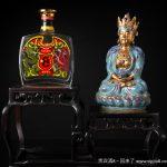A Robins Egg Glaze & Gilded Bodhisattva