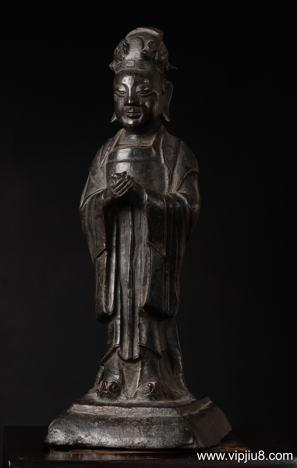 A Ming Bronze Figure Of An Official