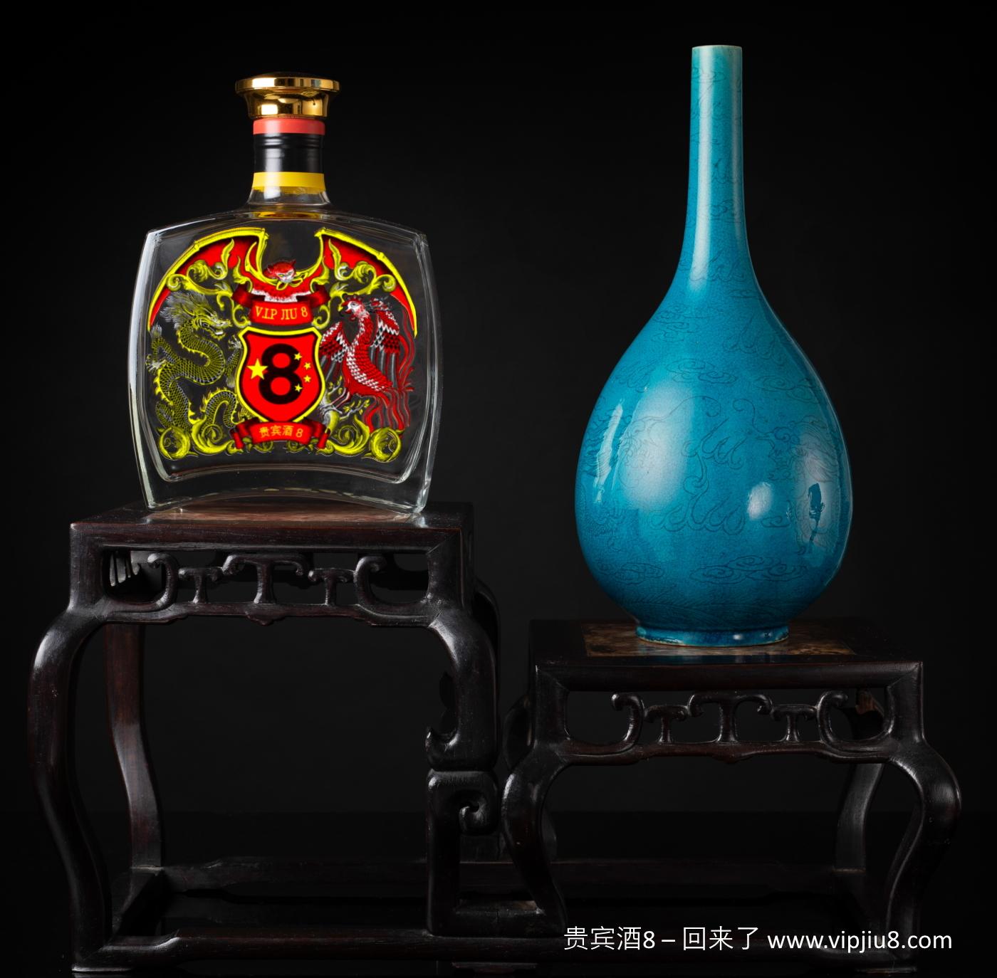 18thc Turquoise Dragon Bottle Vase