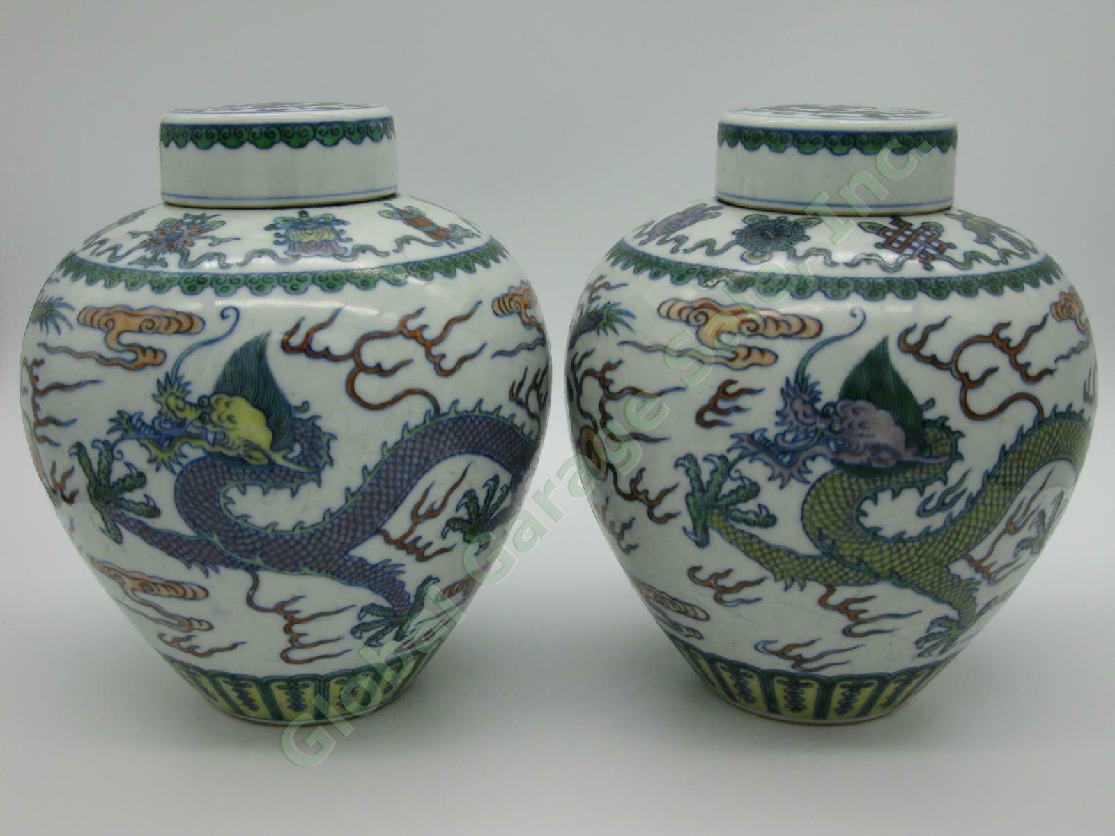 Pair Of Doucai Dragon Jars Sell For US $88,888.88 On Ebay USA
