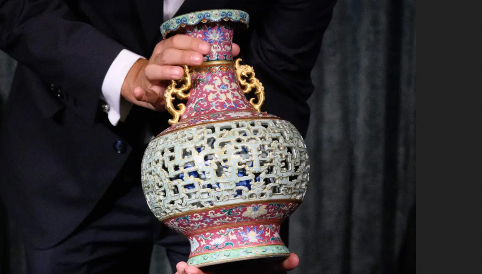 Cat Lady's Qianlong Reticulated Vase Sells For 9 Million